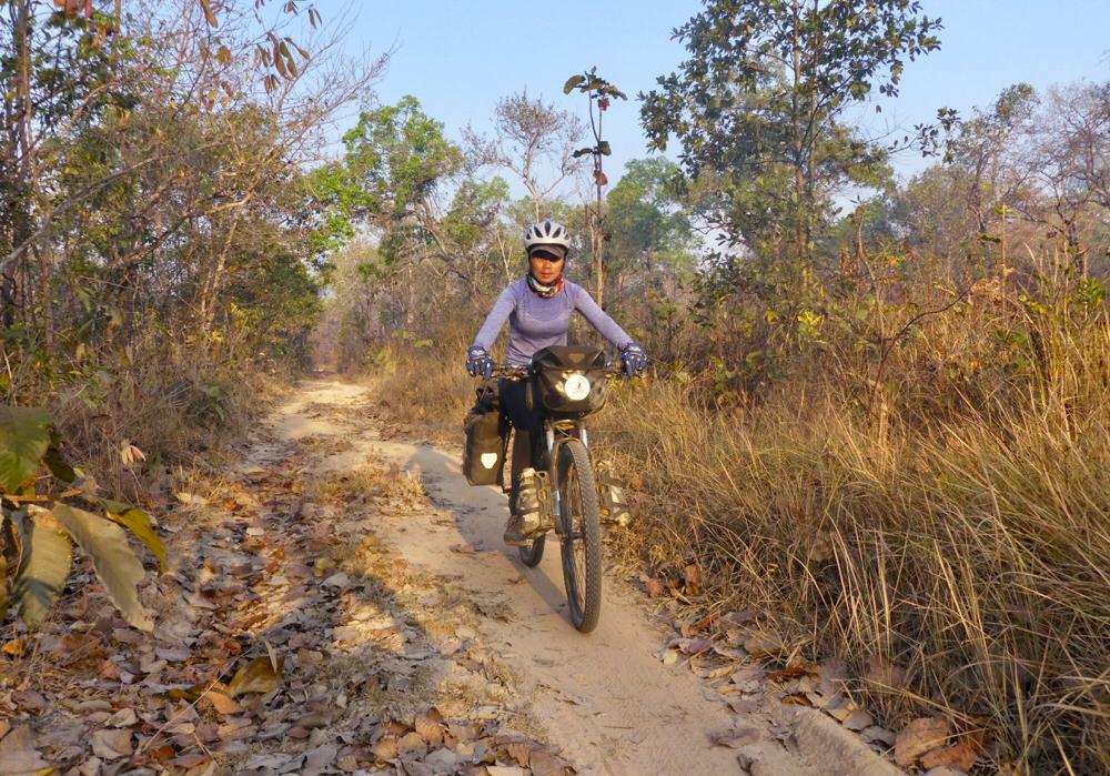 Riding sandy trails