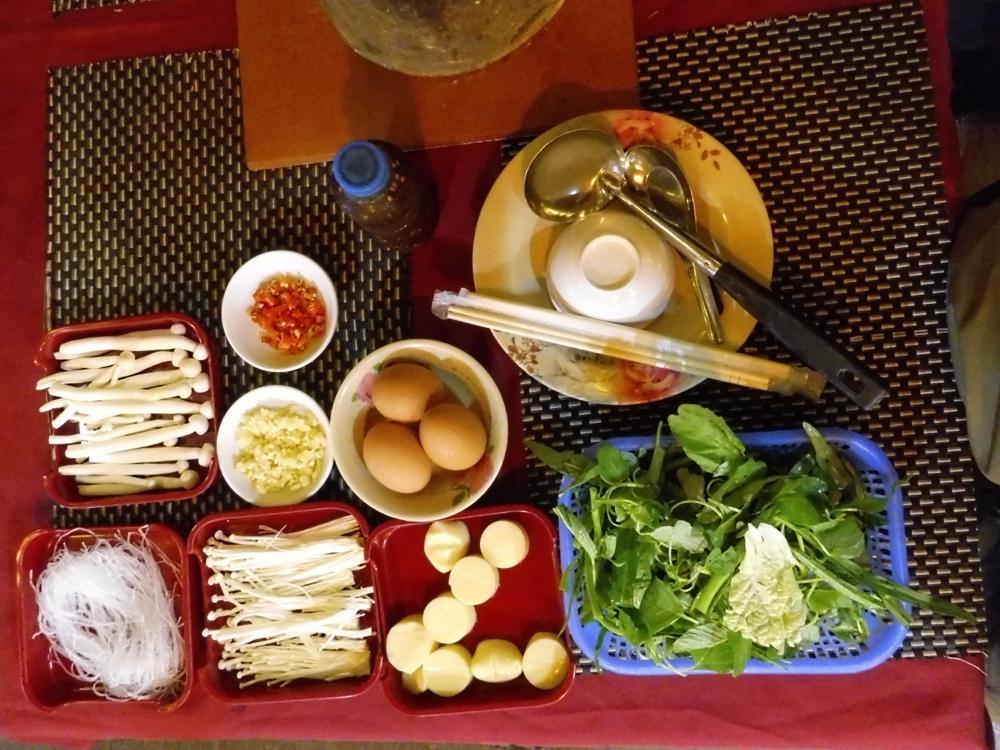 Last dinner - letztes Abendessen - Laos hot pot