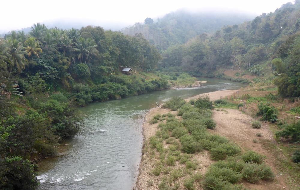 Im Norden von Laos am Morgen des 09.01.18