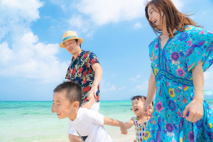 石垣島での家族写真