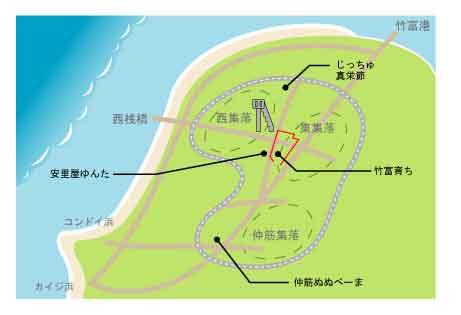 竹富島には八重山民謡が生活に根付いている