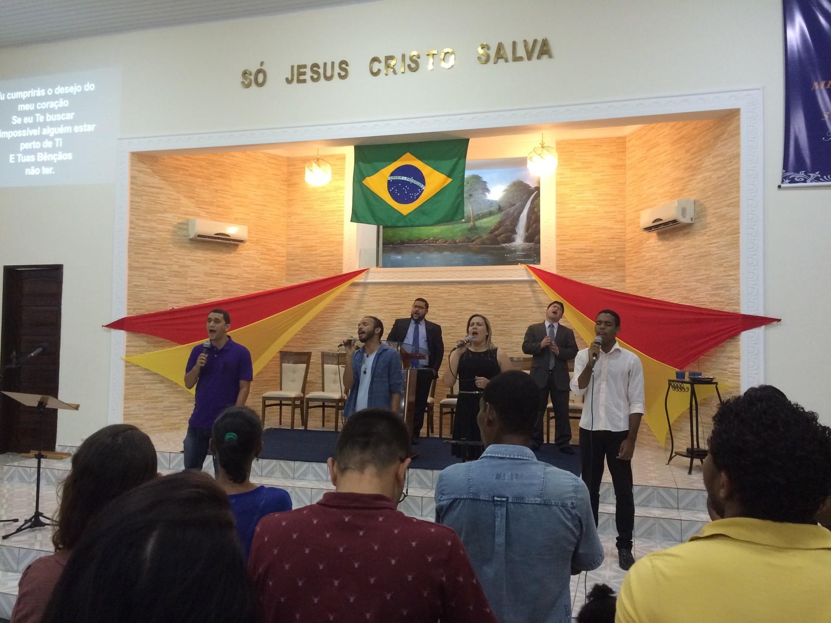 Besuch in einer Freikirche in Olinda