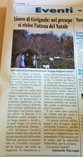 """settimanale """"LA TREBBIA"""" 21 dicembre 2017"""