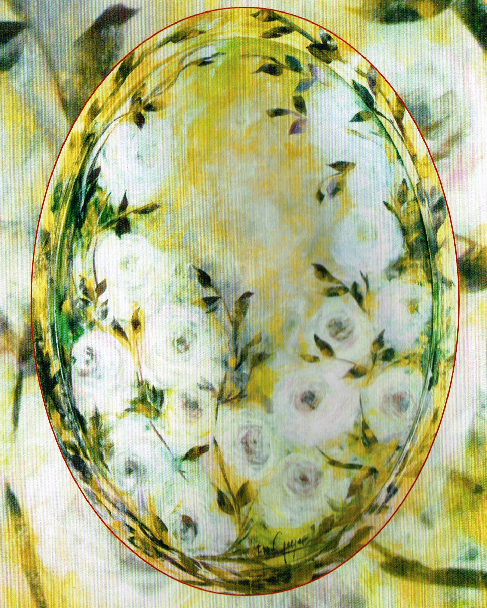 Bianco oro - masonite cm. 70 x 100 Elisa Geyer