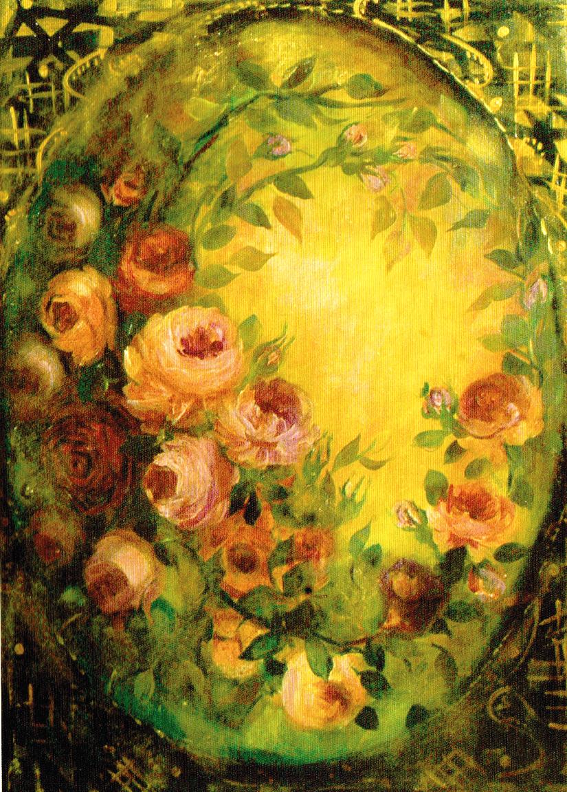 Sole tra le rose - tela cm. 50 x 70 Elisa Geyer