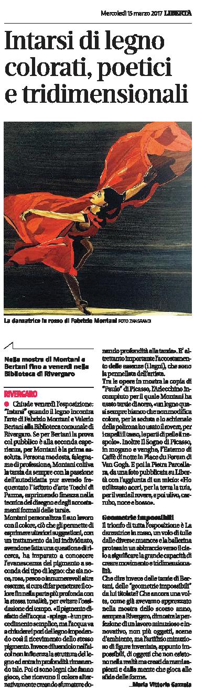 quotidiano  Libertà  - INTARSI - Valerio Bertani e Fabrizio Montani