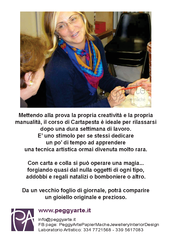 Corso di Cartapesta Artistica  dal 4 Ottobre al 13 Dicembre 2014