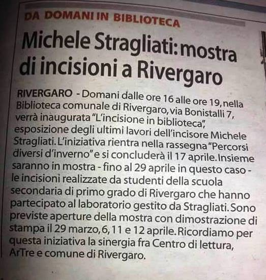 """L'INCISIONE IN BIBLIOTECA"" con Michele Stragliati"