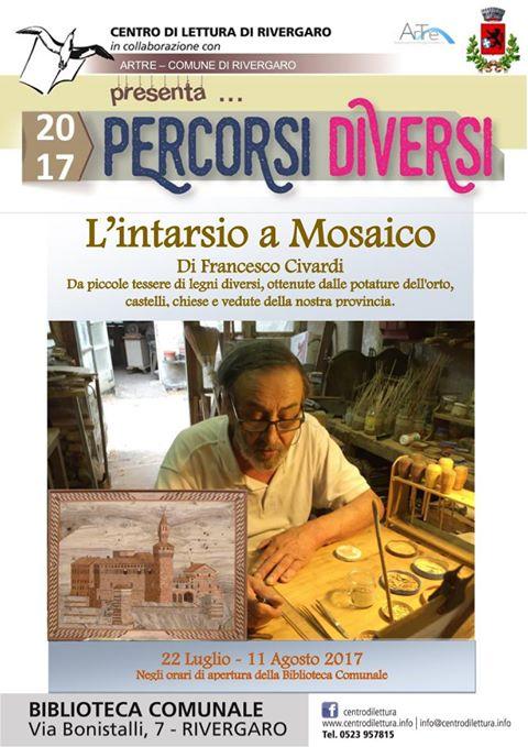 Rivergaro: L'intarsio a Mosaico di Francesco Civardi dal 22 luglio all'11 agosto