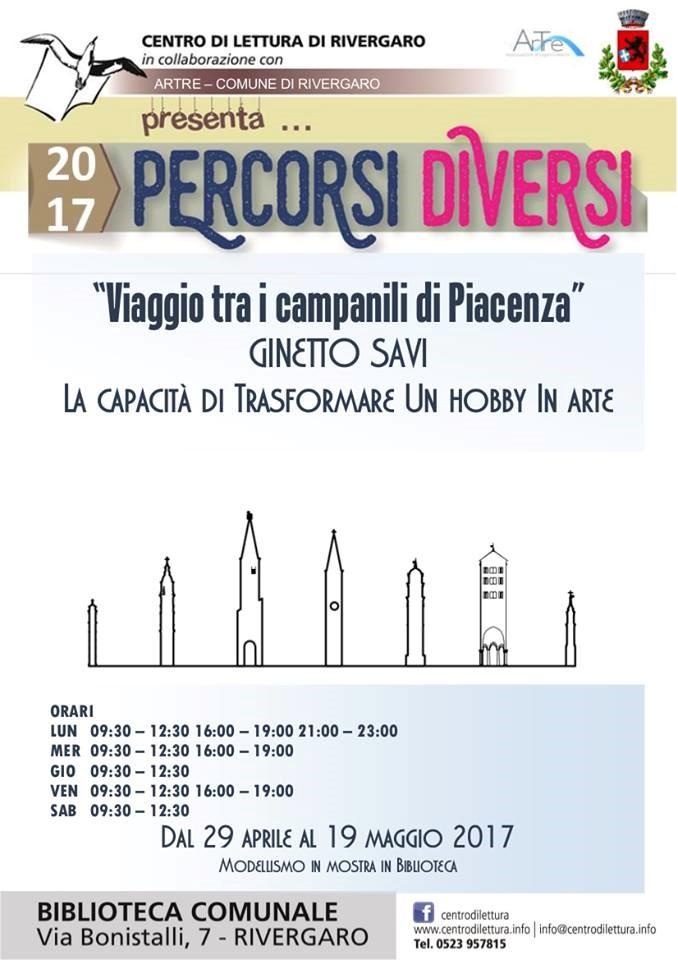 Rivergaro dal 29 aprile al 19 maggio - Ginetto Savi - Viaggio tra i campanili di Piacenza La perfezione, un modellismo artistico che racconta con maestria ogni particolare