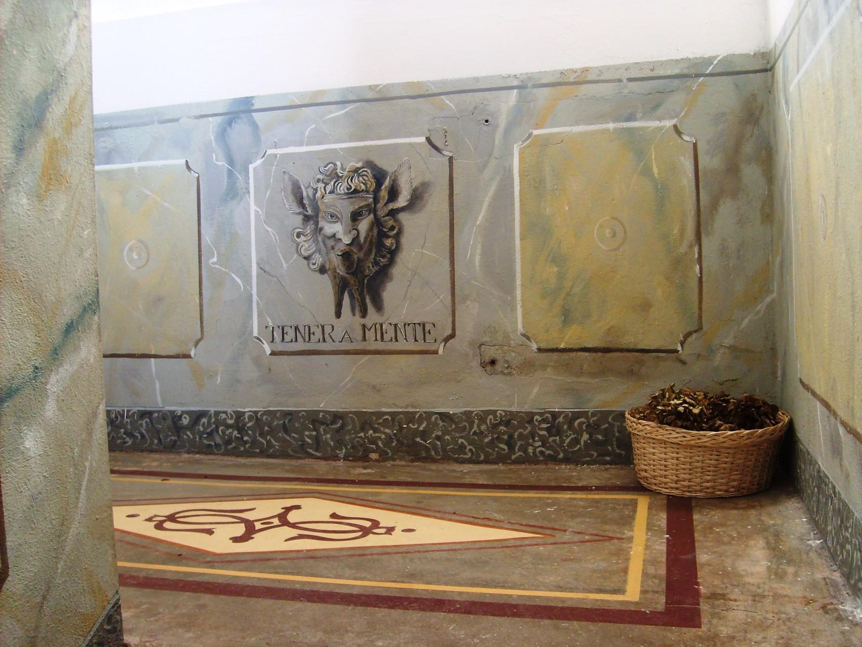 Vigevano - boiserie e pavimento - decorazione a trompe l'oeil