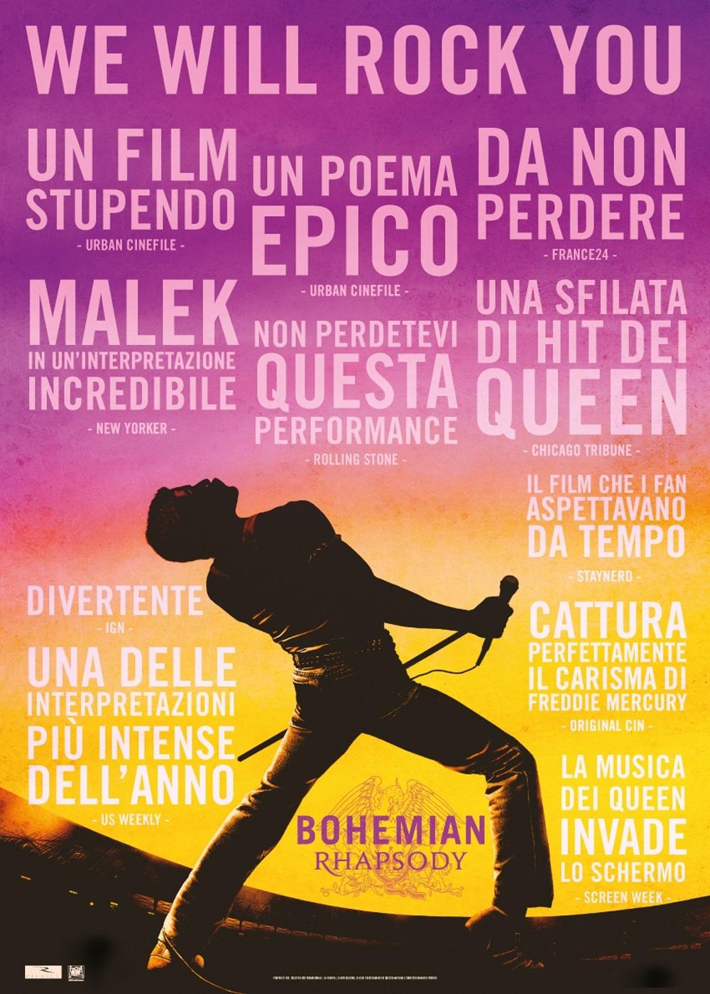 BOHEMIAN RHAPSODY - 25 febbraio ore 21:00 – Rivergaro (PC) Casa del Popolo – Rassegna Cinematografica