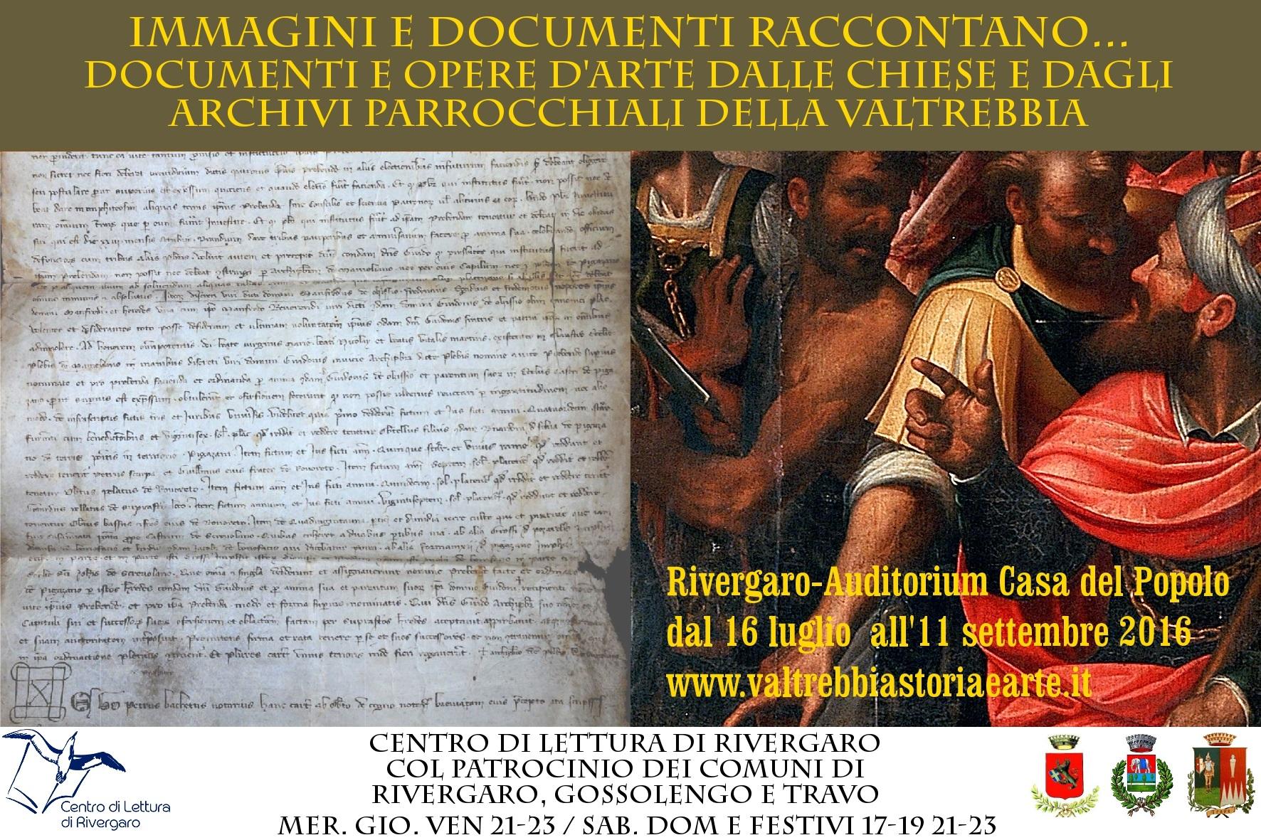 IMMAGINI E DOCUMENTI RACCONTANO ... Documenti e opere d'arte dalle chiese e dagli archivi parrocchiali della Valtrebbia