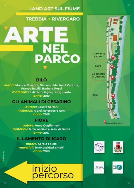 Gli Artigiani di ArTre a  Rivergaro 13 aprile 2019    Inaugurazione ore 17:00    Arte nel parco land art sul fume Trebbia.