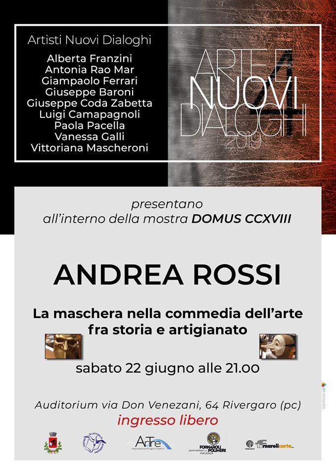 """Rivergaro - Casa del Popolo. Incontro con Andrea Rossi """"La maschera nella commedia dell'arte"""" sabato 22 giugno ore 21:00"""