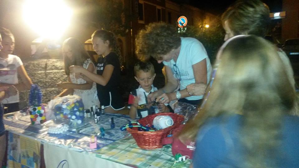 Laboratori sul riuso  in Piazza Trento a Travo agosto 2017