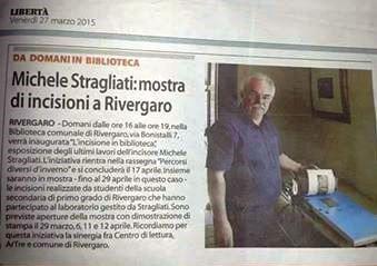 """""""L'INCISIONE IN BIBLIOTECA"""" con Michele Stragliati"""