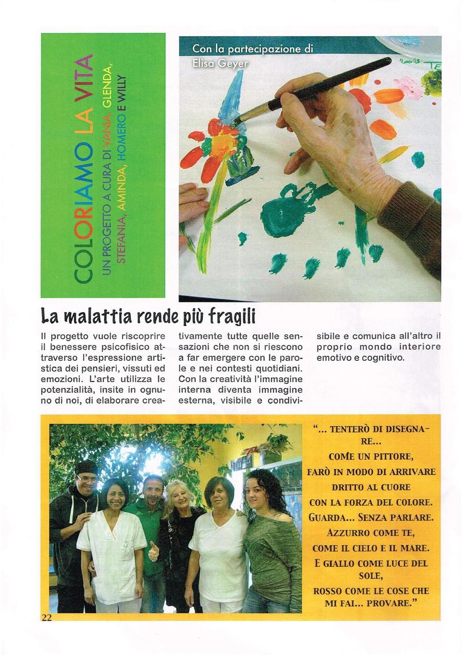 Giornata d'arte terapia alla casa di riposo VILLA VERDE - Ancarano Sopra - Rivergaro Piacenza