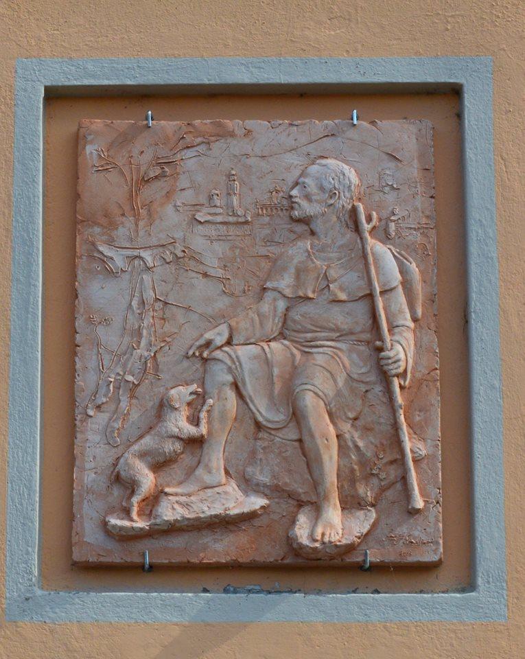 """20 agosto 2016 inaugurazione """" San Rocco"""" a Piancasale di Bobbio opera realizzata dal Maestro Luigi Scaglioni"""