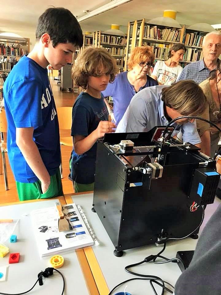 sabato 26 maggio,  II incontro con il 3D a Rivergaro in Biblioteca.