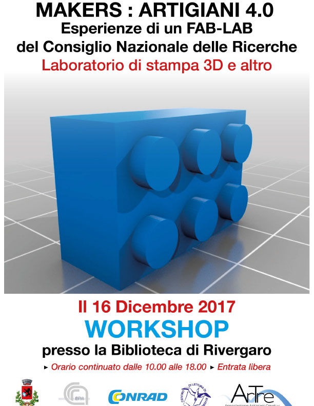 Rivergaro: 16 dicembre 2017 - workshop Laboratorio di stampa 3D