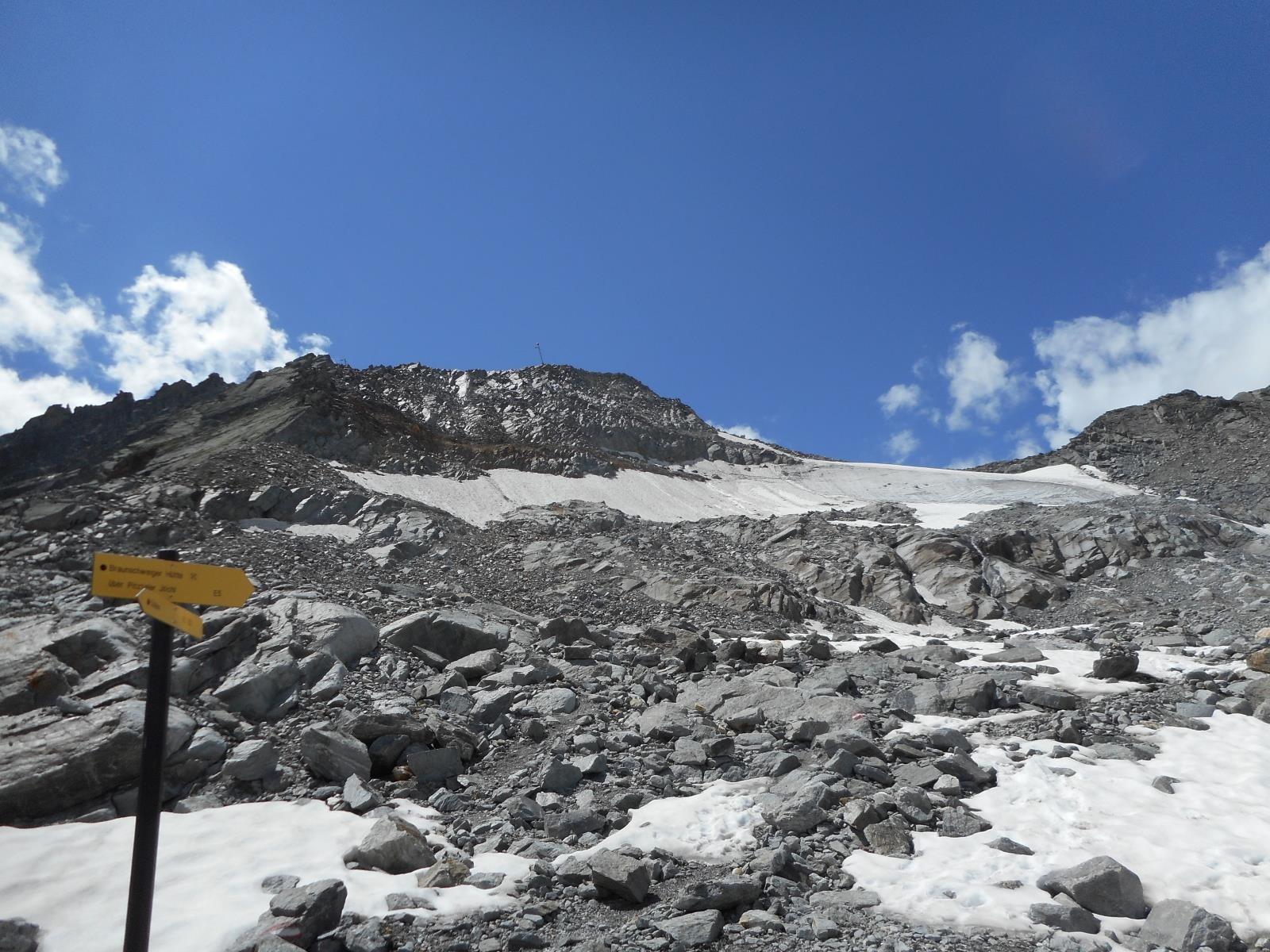 Le Pitzaler Joch à 2996m