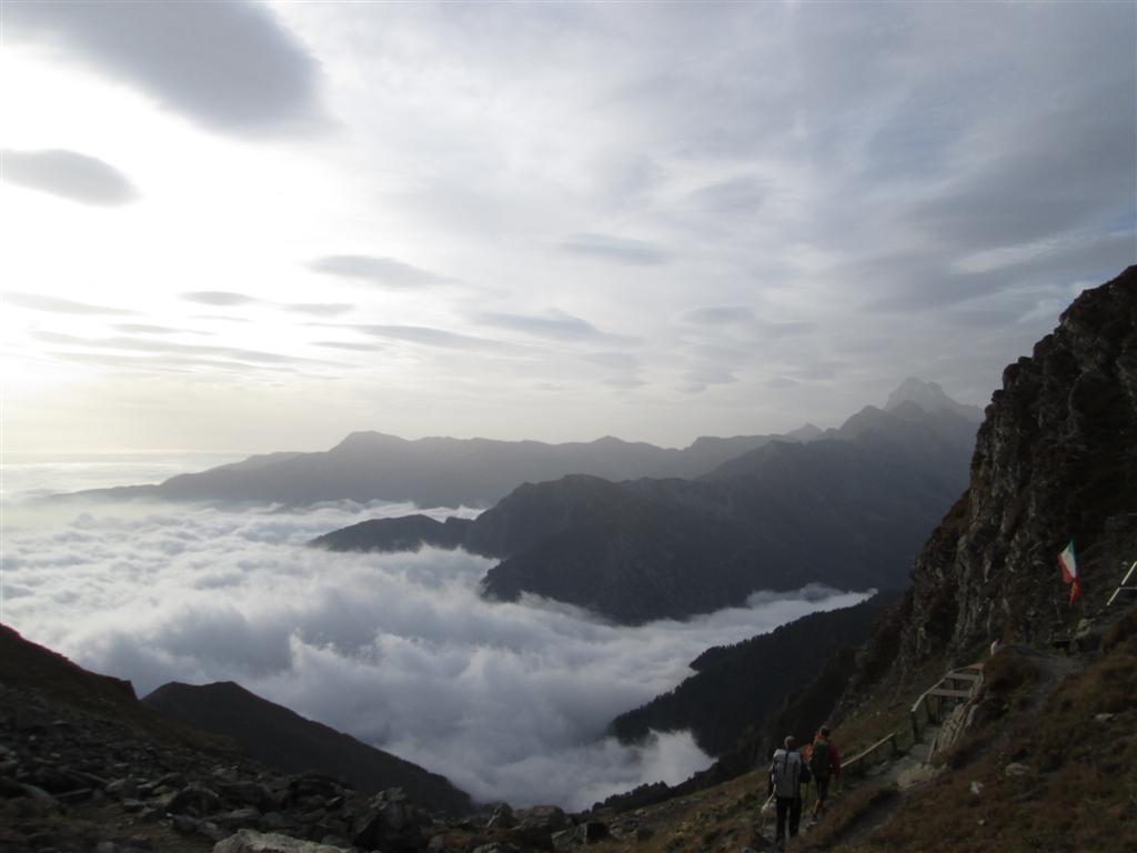 Desente sur le bivouac Soardi (2620m)
