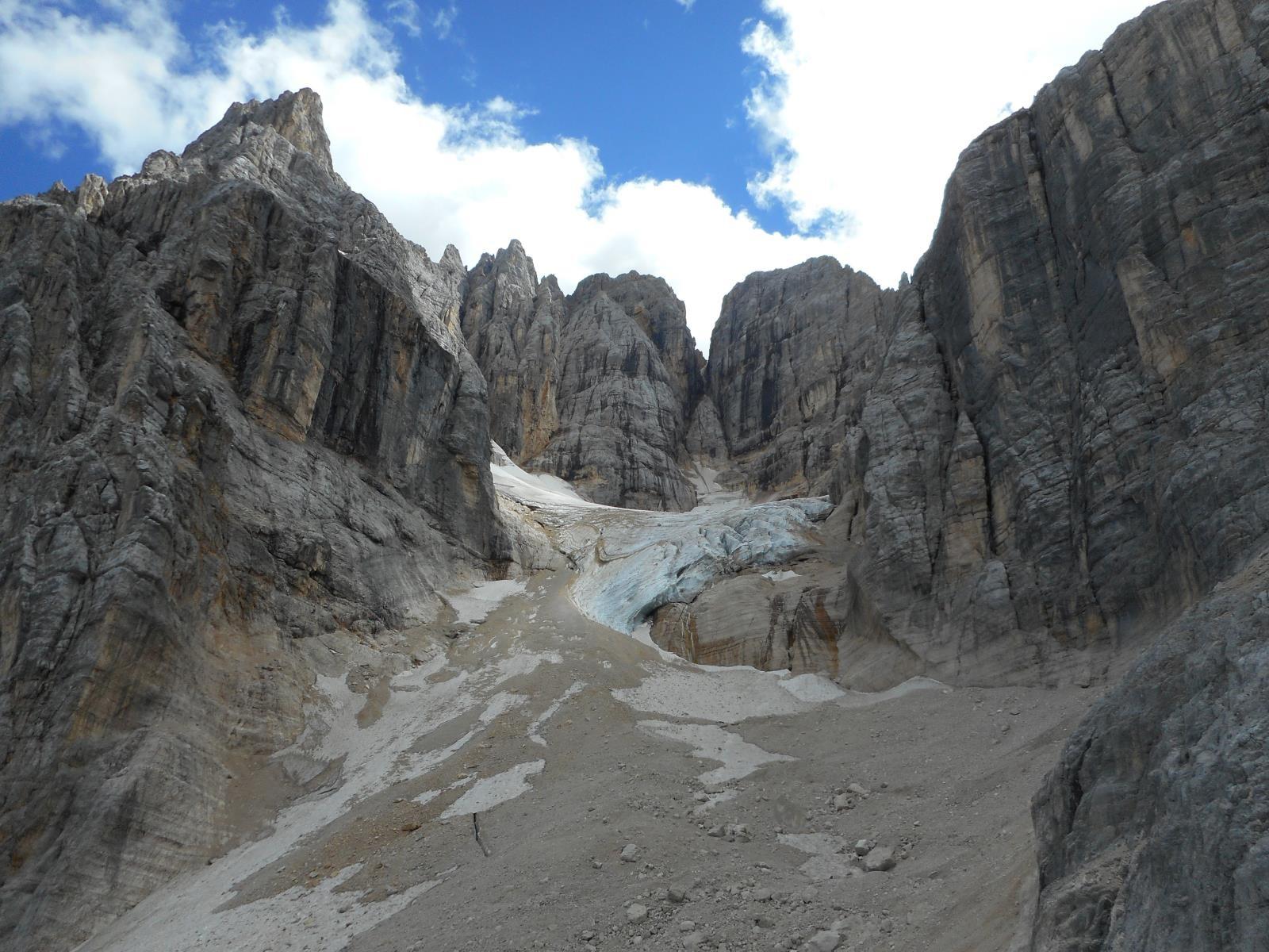 Ce qu'il reste du glacier del Sorapis