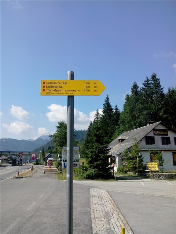 Frontière Autrichienne, sentier 603 jusqu'à Thörl Malgern