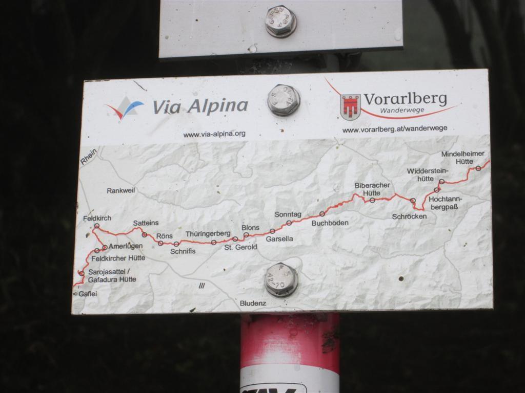 Le balisage Via Alpina au Liechteintein