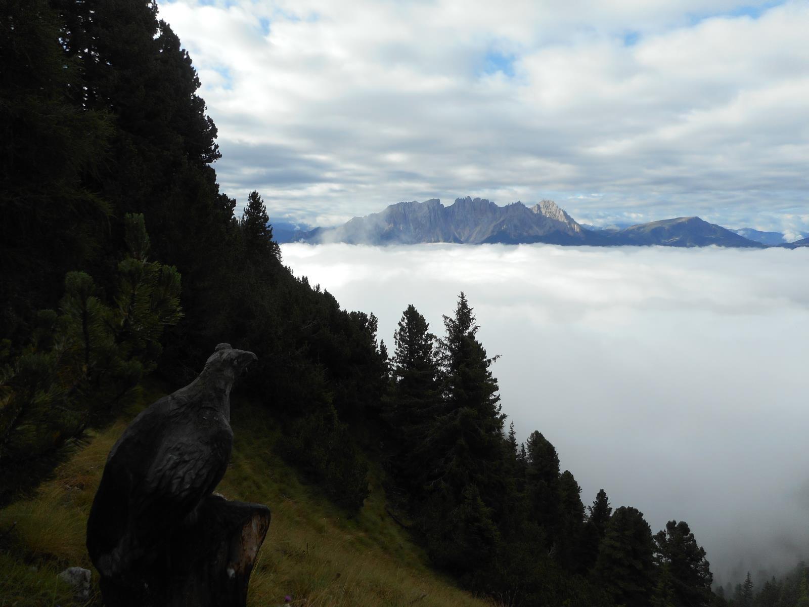 Au dessus du brouillard, gruppo dolomiti du Sciliar et du Catinaccio