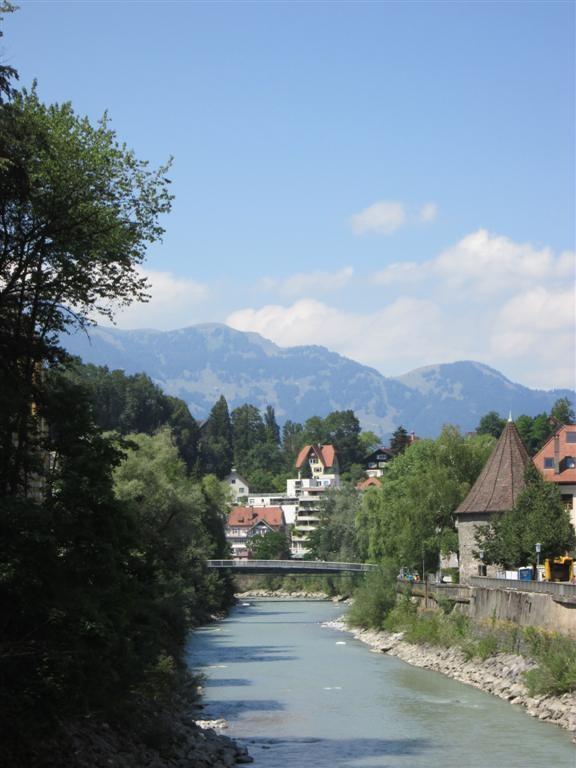 L'Ill traversant Feldkirch