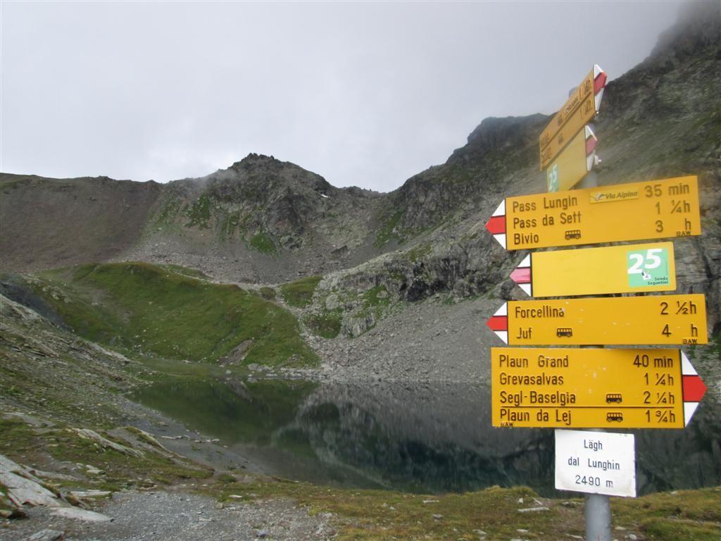 Le lac dal Lunghin, en montant au col éponyme (2641m)