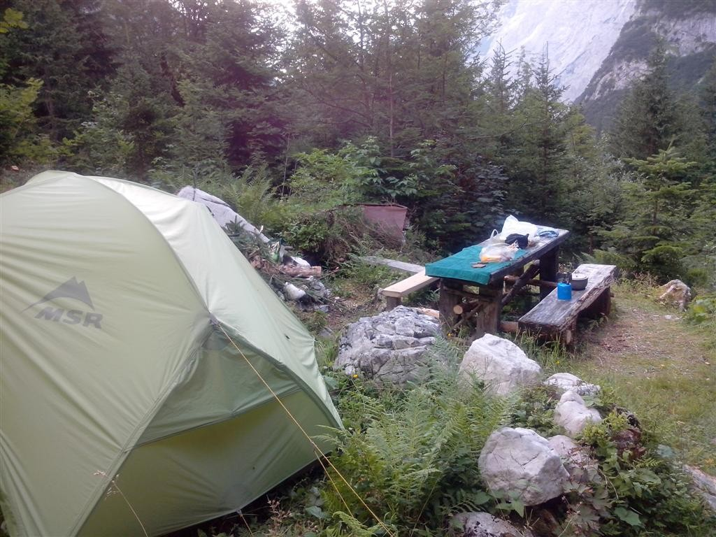 Bivouac près de Reintalhütte (1380m)
