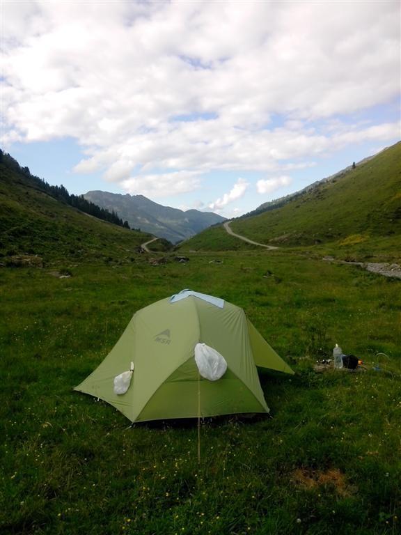 Bivouac dans l'alpage Pfundsalm (1600m)