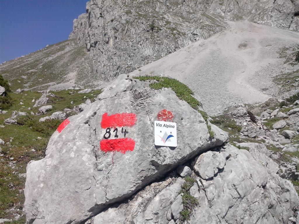 Balisage de la Via Alpina en Autriche