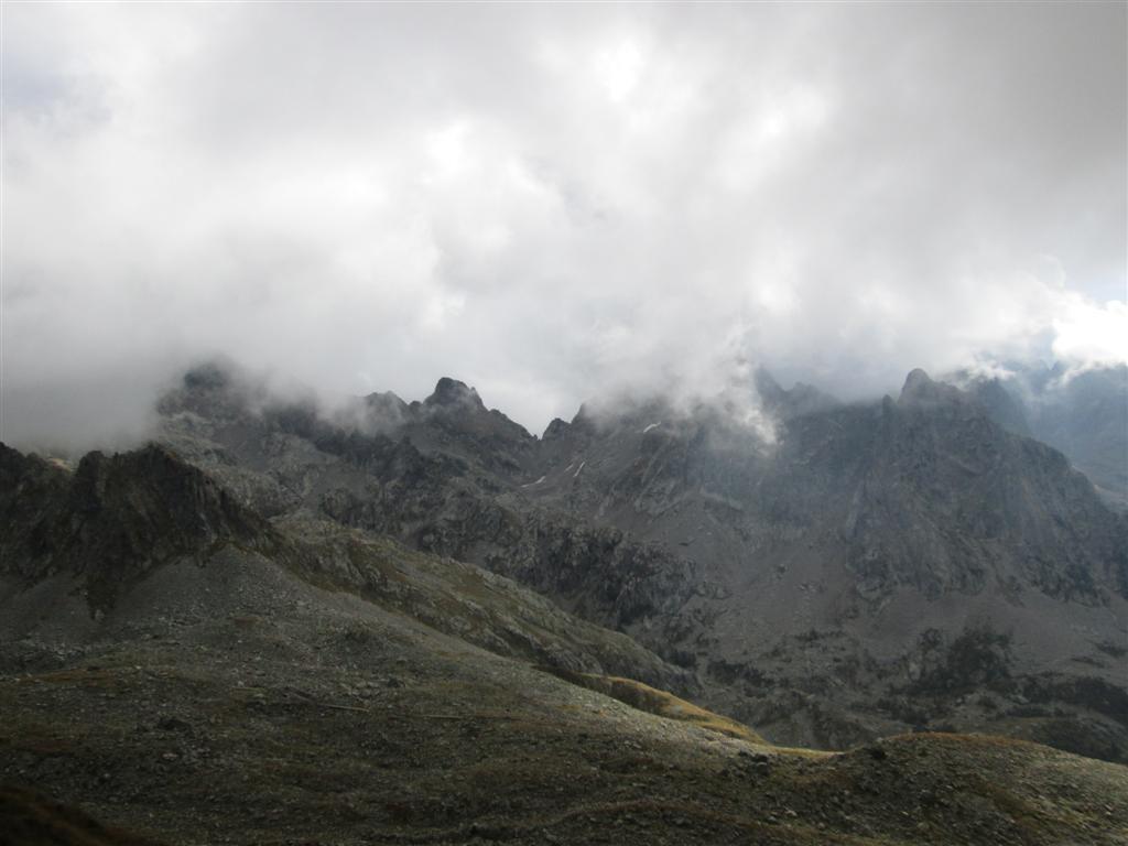 Pas des Ladres (2448m), vue sur le lac de Trécolpas