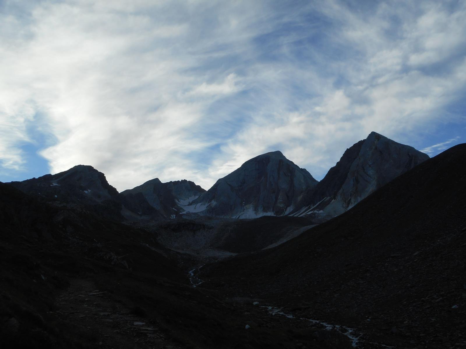 Lever matinal, direction le Johannesharte (2854m)