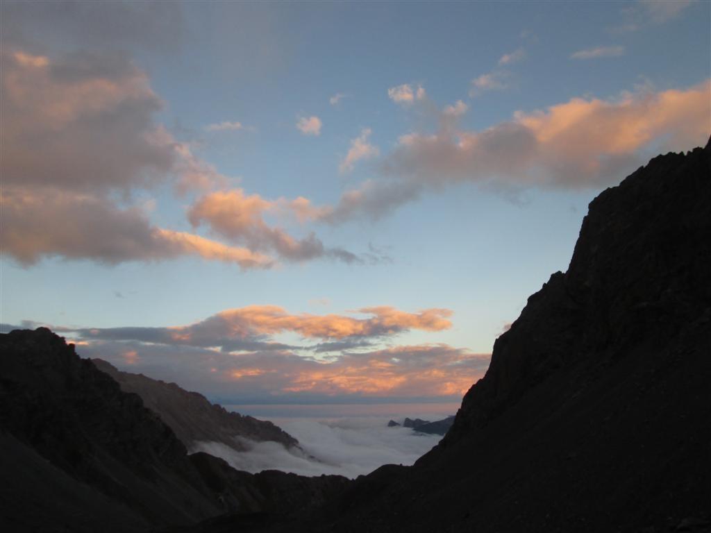 Coucher de soleil depuis le bivouac Sartore (2440m)