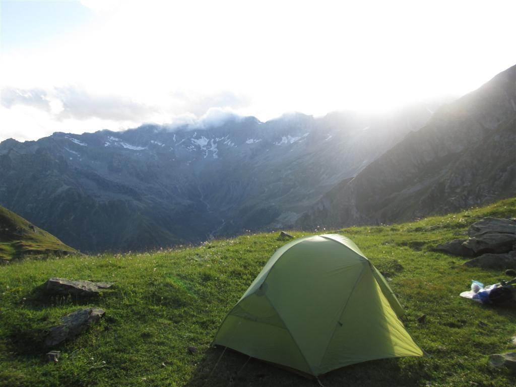 Bivouac sous le passo della Préjà (2350m)