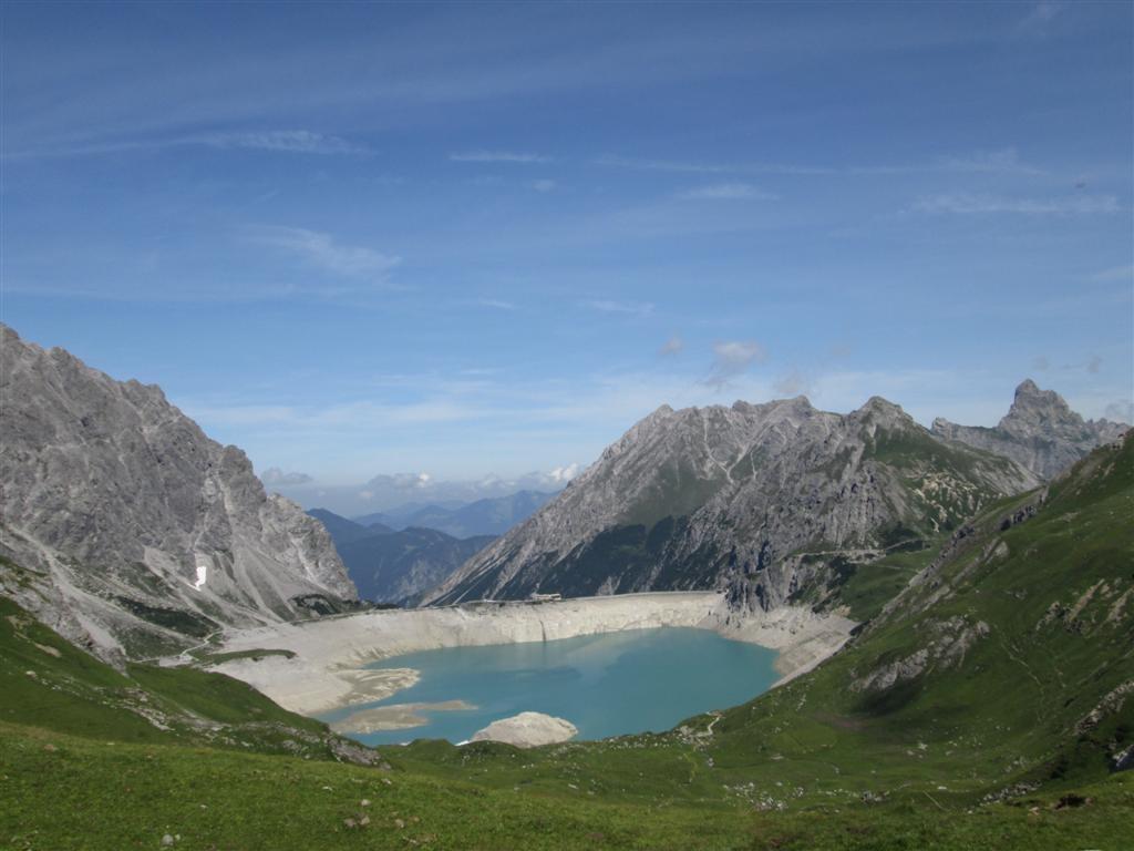 Le Lünersee depuis le Cuveljoch (2239m)