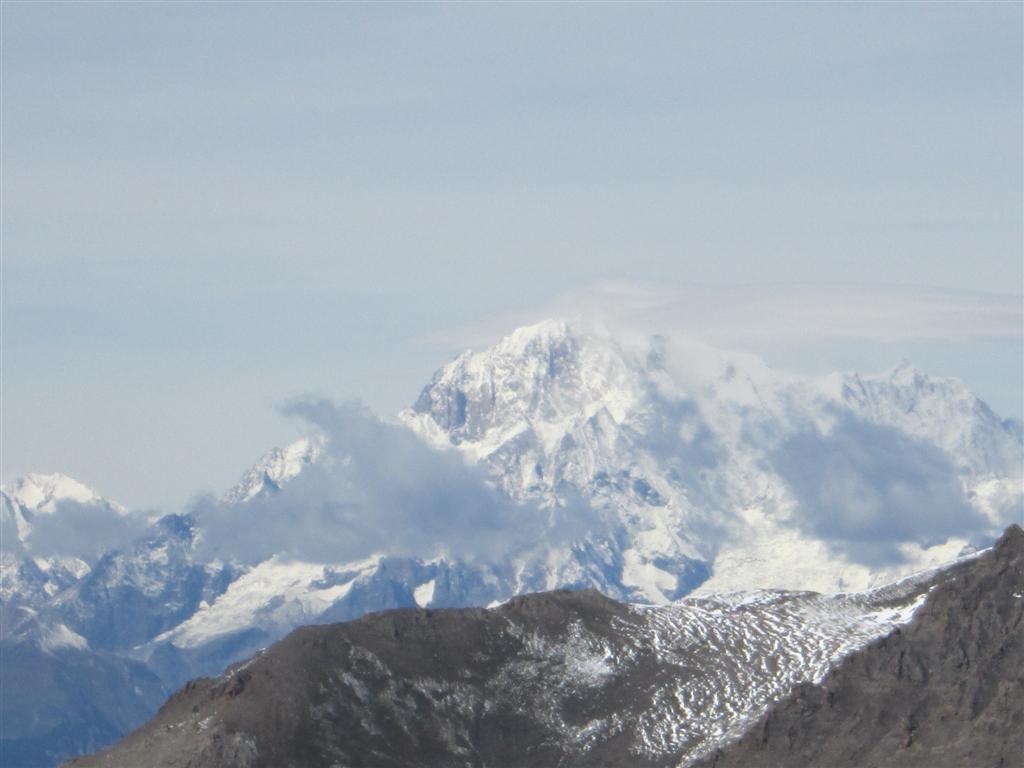 La seule photo du Mont Blanc, et le seul jour où nous l'avons vu ...