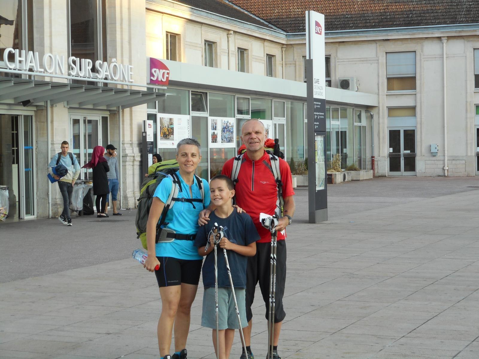 12 juillet, comme en 2013, départ en train de Chalon sur Saône