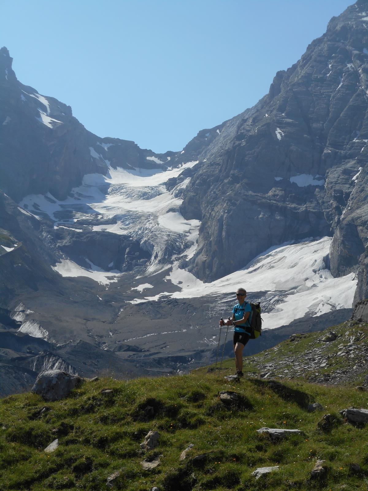 Décor de rêve (?) pour ce 3ème jour de rando (col sous le Gspaltenhorn - 3436m)