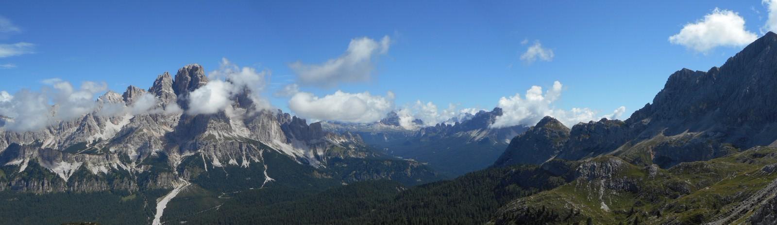 Les Sassolungo (3181m) depuis le massif du Sorapis (3205m)