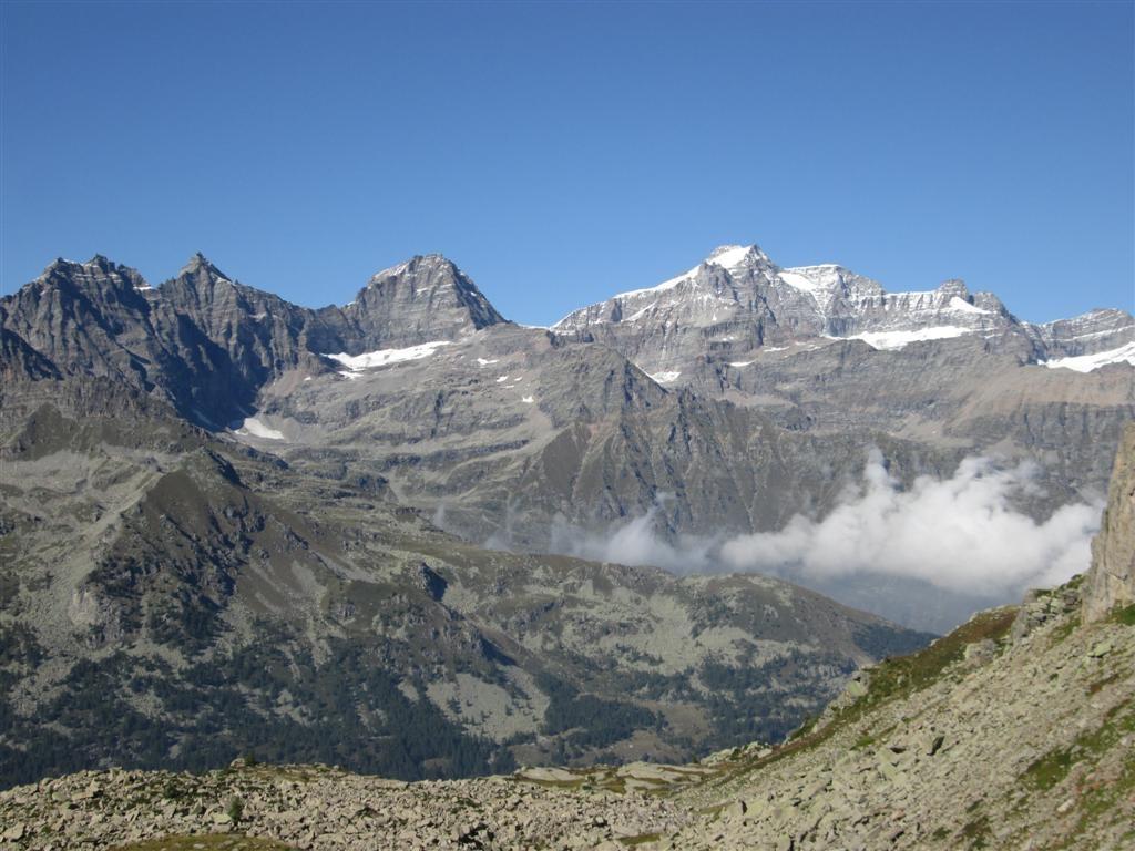 Vue sur le Gran Paradis (4061m) depuis la montée du Colle Crocetta