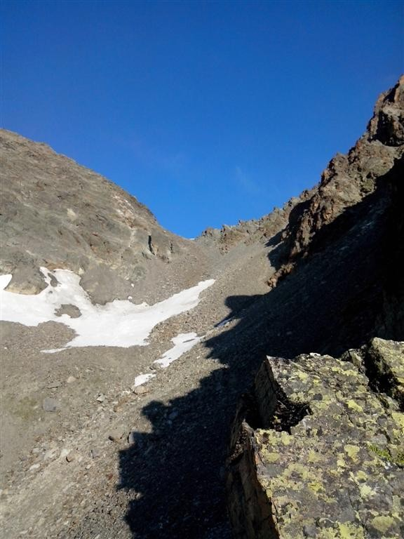 Descente du col (engagé) de Getschner joch (2635m)