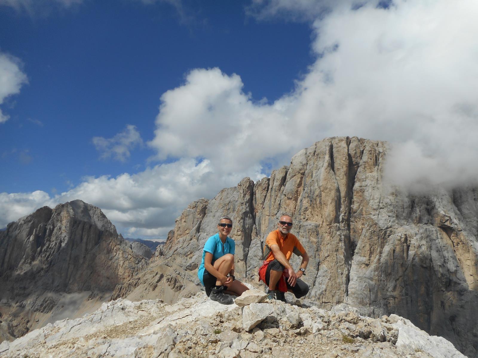 Au sommet de la Cime de Ombretta (3011m)