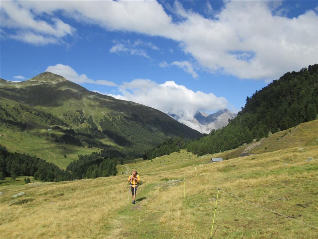 Peu après l'alpe Plaxter (2091m)