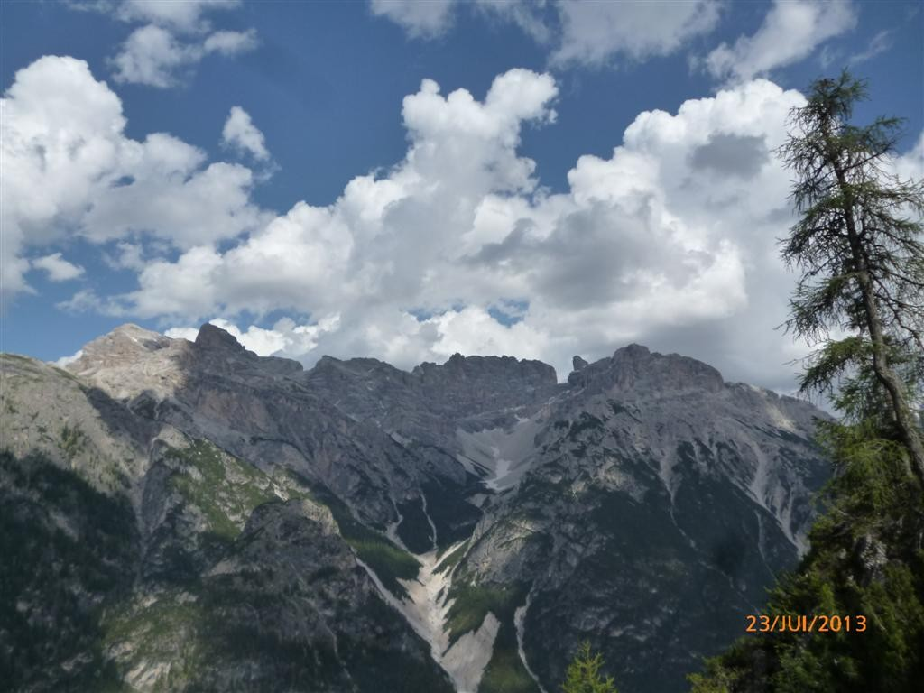 Les Dolomites, de l'autre coté de la vallée de Durren